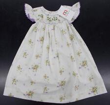 Infant, Toddler, & Girls Mom & Me Hand Smocked Off-White Dress Sz 12 Months - 7