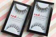 2x Red Cherry SAGE #523 Echthaar künstliche Wimpern schwarz false strip lash