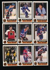 1989/90 TOPPS HOCKEY STICKER 33 CARD SET NM/NM TO MINT