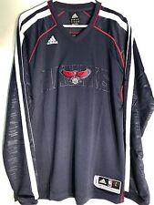 Adidas OnCourt Shooter WARMUP Jersey ATLANTA Hawks Team Navy sz L