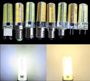 Dimmable LED 6W G4/G8/G9/E11/E12/E14/E17/BA15D 80-5730 SMD Bulb Silicone Lamp