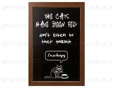 CATS HAVE BEEN FED don't fall for their bullshit  8x12 metal print sign kittens