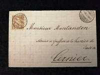 Schweiz - Brief Stück Stempel 1877 Neuchatel Sitzende Helvetia 5 C     Nr.2