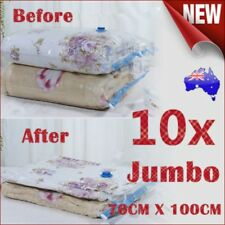 10x Jumbo Vacuum Storage Bags Saver Seal Compressing Space Saving Experts 70x100