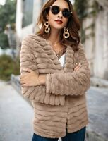 Women's Autumn Winter Warm Imitation rabbit fur Outwear Coats Jacket Fashion