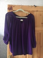 Ladies Wallis Purple Top Size L, New without tags