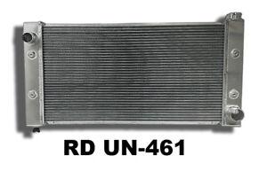 Left Inlet 2 Row Universal Aluminum Radiator 31.7 W x 17.5 H x 3.74 D