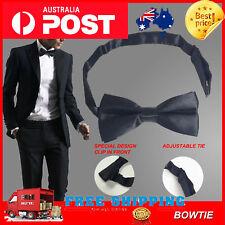 Mens Silk Satin plain Tuxedo Solid Bow Tie Formal Wedding Bowtie Necktie fashion