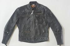 Harley Davidson Men's Vintage ORIGINAL 90's V-TWIN Leather Jacket Patches M RARE