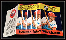1975 HOUSTON ASTROS HOUSTON CHRONICLE BASEBALL POCKET SCHEDULE FREE SHIPPING