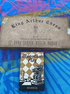 Vintage Drueke Games No 1007 King Arthur Set & 1951 Book  - Master Chess Play