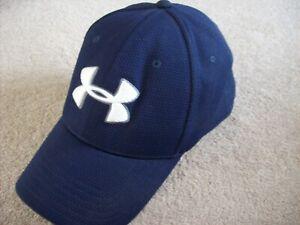 UNDER ARMOUR NAVY BLUE LOGO BASEBALL CAP