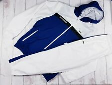 Mens Lacoste Tracksuit Navy White Size Large 5/186 Track Top Jacket Hoodie