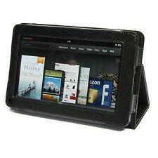 For Amazon Kindle Fire Folio Premium Flip Leather Case Pouch with Stand Black