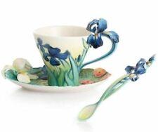 Franz Porcelain Van Gogh Iris Cup Saucer Spoon Set