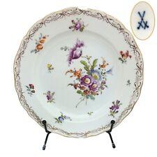 """3X Meissen Seconds Neubrandenstein Dessert Plates, 7.6"""" Scattered Flowers MMS13"""