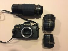 Mamiya ZE-2 Quartz 35mm Camera w 3 Lenses Mamiya-Sekor Zoom Macro Case Bundle
