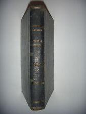 LAVATER: Journal d'un observateur de soi-même, 1853.