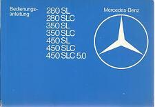 MERCEDES SL-Klasse R107 C107 Betriebsanleitung 1979 Bedienungsanleitung 450 BA