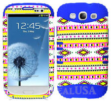 KoolKase Hybrid Silicone Cover Case for Samsung Galaxy S3 - Chevron Tribal 02