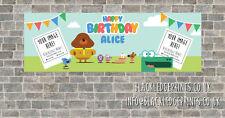 PVC Birthday Banner Personalised- Hey Duggee