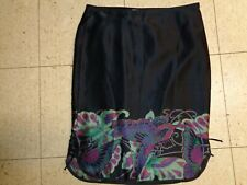 VINTAGE BETSEY JOHNSON New York Metallic Silk Skirt Size 4 Pencil USA