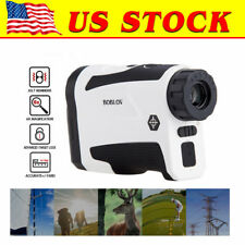 2018 GOLF LASER RANGE FINDER BOBLOV LF-600G W/FLAG-LOCK, SLOPE&VIBRATION (WHITE)