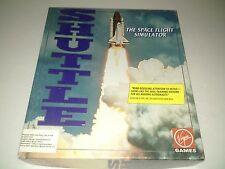 Shuttle the Space Flight Simulator Virgin Games PC IBM 5.25 Complete in Box CIB