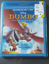 Dumbo (Blu-ray/DVD, 2011, 2-Disc Set, 70th Anniversary Edition) NEW!! DISNEY