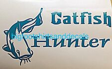 Catfish Hunter Window Decal Fishing Salt Fresh Water Bass Car Truck Boat Sticker