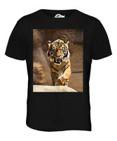 GEOMETRIC PATTERN TIGER MENS T-SHIRT TEE TOP GIFTANIMAL NATURE