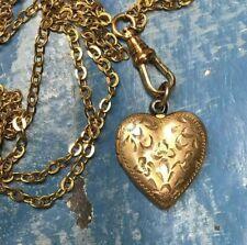 Vintage gold tone Locket Assemblage ooak gold tone chain
