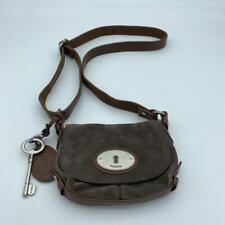 Fossil Maddox Small Signature Flap Crossbody Women's Brown leather Bag/purse
