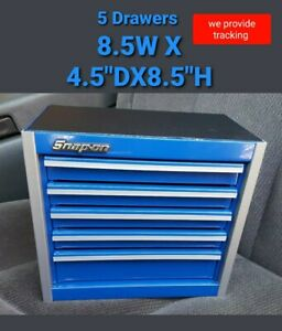Snap-On Tool Box Miniature stationary Bottom Cabinet In ROYAL BLUE NIB New !!!!!