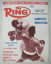 THE RING BOXING MAGAZINE May 1961 JOHANSSON - PATTERSON FIGHT RAY ROBINSON