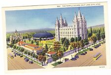 The Temple Square-Salt Lake City Utah- Postcard