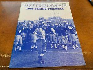 1988 Notre Dame Spring Football Media Guide