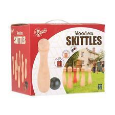 Outdoor Indoor Wooden Skittles Garden Games Set