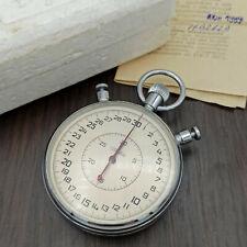 Vintage USSR Mechanical Stopwatch SLAVA Chronograph Soviet Sport Split 0,1s Box