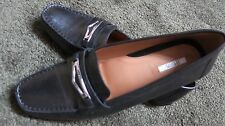 Geox womens black loafer mocassin shoes flat rubber sole size 39.5 NWOT