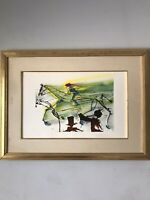 VINTAGE SALVADOR DALI MODERN ABSTRACT LITHOGRAPH - CUBISM CUBIST SURREALISM AP