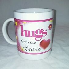 2004 Hugs From The Heart Coffee Mug Howard Publishing Co Pink Flowers
