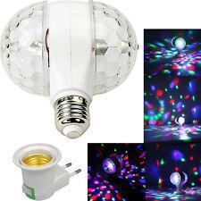 Mini Proiettore Lampada RGB doppia rotazione LED E27 effetto disco dj luci music