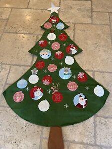 Pottery Barn Kids Tree-Shaped Advent Calendar Christmas Decor New