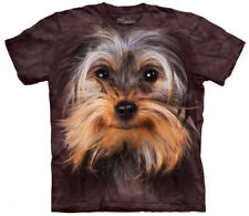Yorkshire Terrier Face T-Shirt Oversized Dog Mountain 100% Cotton Adult