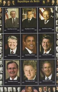 PRESIDENTS OF THE UNITED STATES USA OBAMA REAGAN CLINTON 2009 MNH STAMP SHEETLET