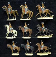 9 Zinnfiguren Preussen Husaren Napoleonische Kriege bemalt 30mm