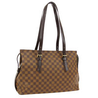LOUIS VUITTON CHELSEA SHOULDER TOTE BAG TH0021 PURSE DAMIER N51119 AUTH 02049
