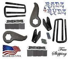 "2001-2010 Silverado Sierra 1500HD 2500HD 3500HD 3-2"" Lift Kit Keys Blocks Shock"