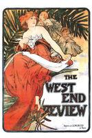Alphonse Mucha The West End Review Art Nouveau Vintage Art Print Advertisement P